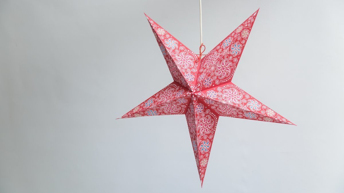 Firework Red Paper Star Party Decorations