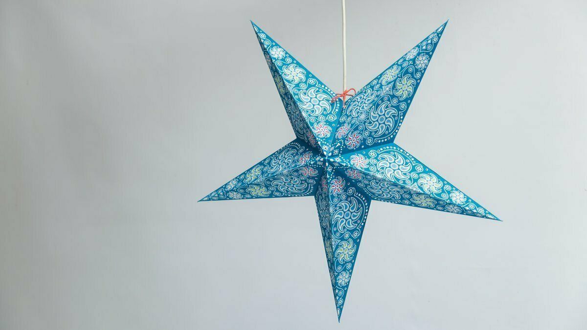 Firework Teal Paper Star Party Decorations