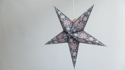 Firework Black Paper Star Party Decorations